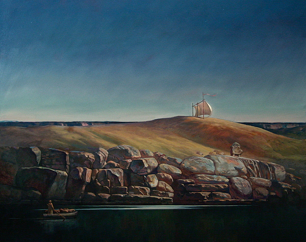 Landscape Painting - The Stillness by Faizulla Khamraev