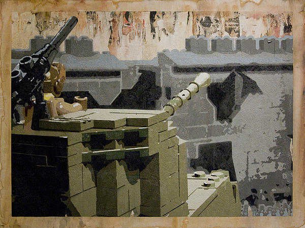 Lego Painting - The Storming Of Berlin by Josh Bernstein