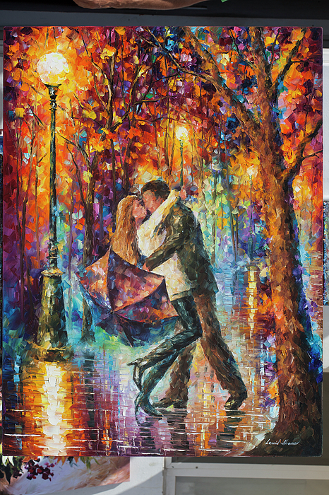Painting Painting - The Story Of The Umbrella by Leonid Afremov