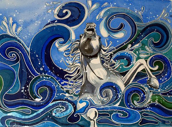 Impressionistic Painting - The Struggle Of Death And The Promise Of More Life by Sheri Gundry