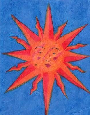 The Sun Drawing by Tara Kearce