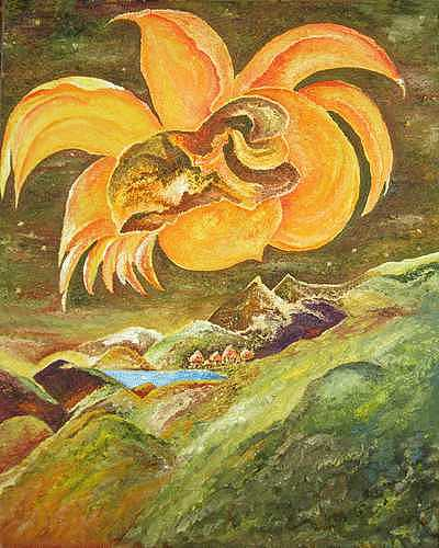 The Sunflower Guardian Painting by Karina Ishkhanova