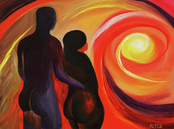 Colorful Painting - The Sunset Of Our Dreams by Angel Reyes