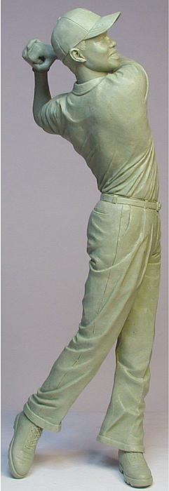 Golfer Sculpture - The Swing by Ray Santoleri