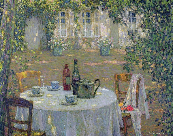 Gerberoy Painting - The Table In The Sun In The Garden by Henri Le Sidaner