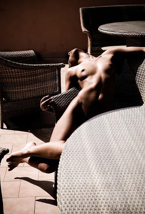 Sensual Photograph - The Terrace by Olivier De Rycke