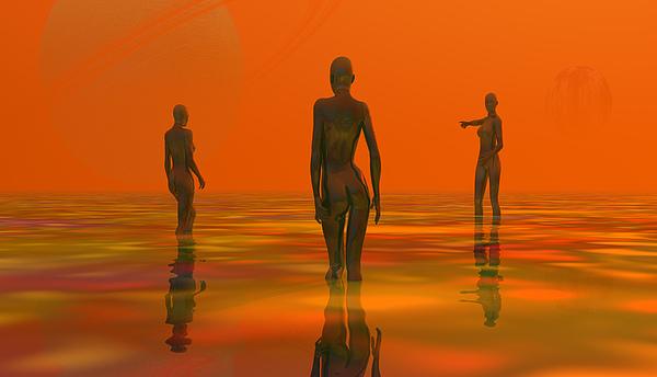 The Three Digital Art by Patrick OReilly