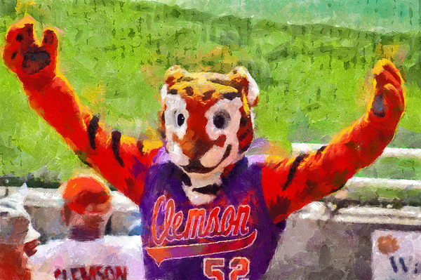 Clemson Painting - The Tiger by Lynne Jenkins