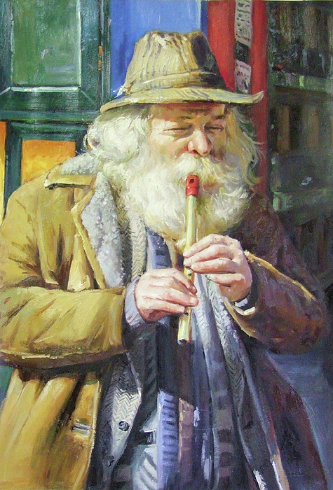 Ireland Painting - The Tin Whistle by Conor McGuire