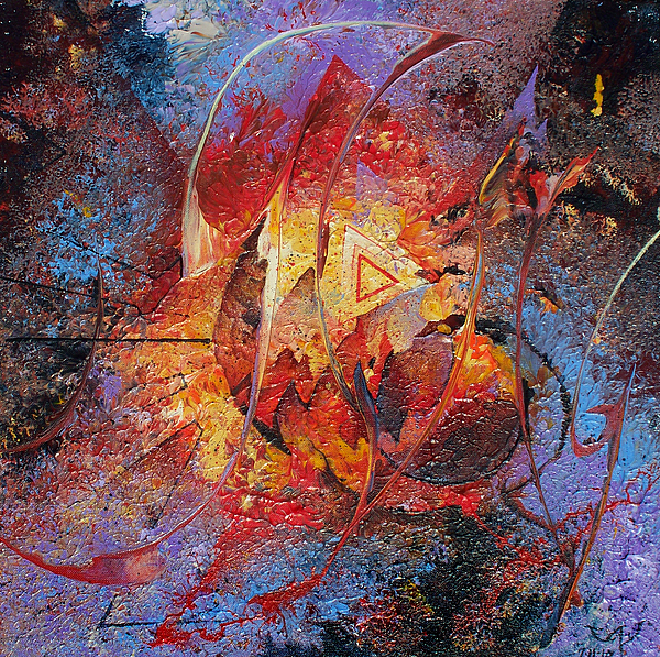 Abstract Painting - The Tipping Point by Fred Wellner