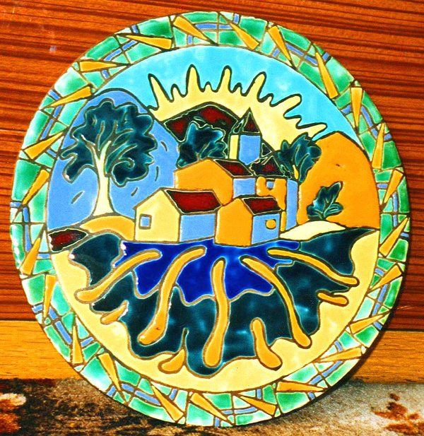 Paisaje Ceramic Art - The Town Of My Dreams by Justyna Pastuszka