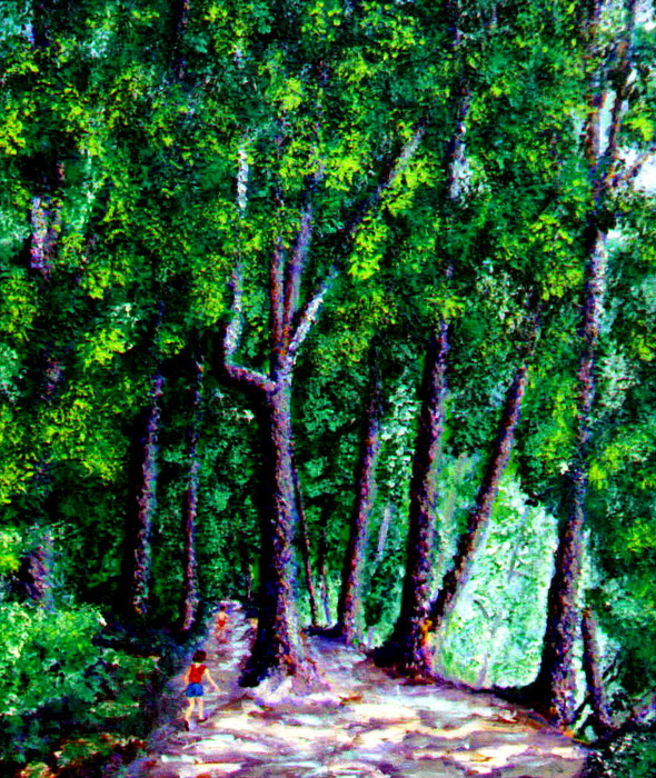 Trail Painting - The Trail by Stan Hamilton