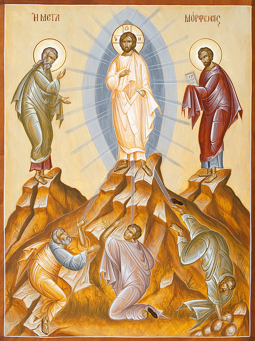 The Transfiguration Of Christ Painting by Julia Bridget Hayes