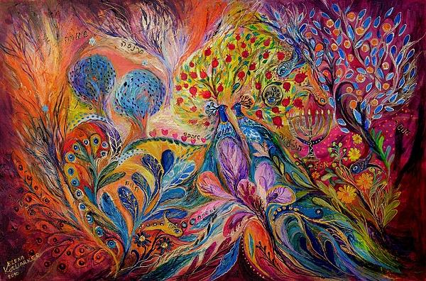 Original Painting - The Trees Of Eden by Elena Kotliarker