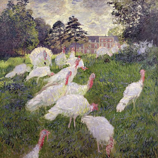 The Turkeys At The Chateau De Rottembourg Painting - The Turkeys At The Chateau De Rottembourg by Claude Monet