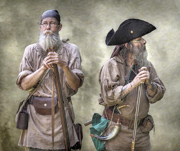 Muzzleloading Digital Art - The Two Frontiersmen  by Randy Steele