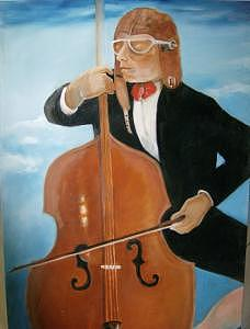 Man Painting - The Viola Player by Marlene Files