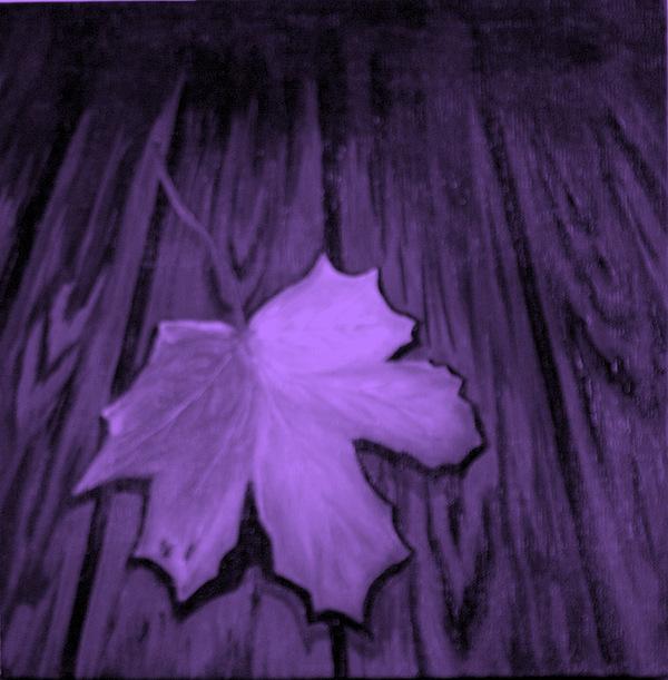 Leaf Painting - The Violet Leaf by Ninna