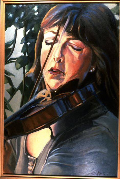 Portrait Painting - The Violinist-p by Patricia Reed