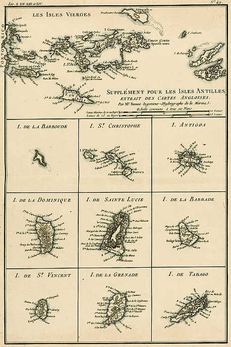 Engraving Drawing - The Virgin Islands by Guillaume Raynal