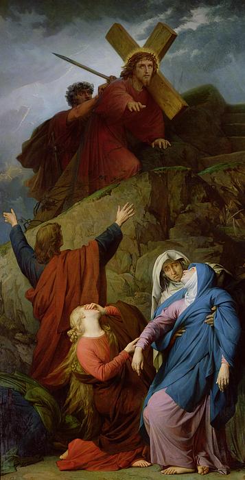 The Virgin Of Calvary Painting - The Virgin Of Calvary by Jules Eugene Lenepveu