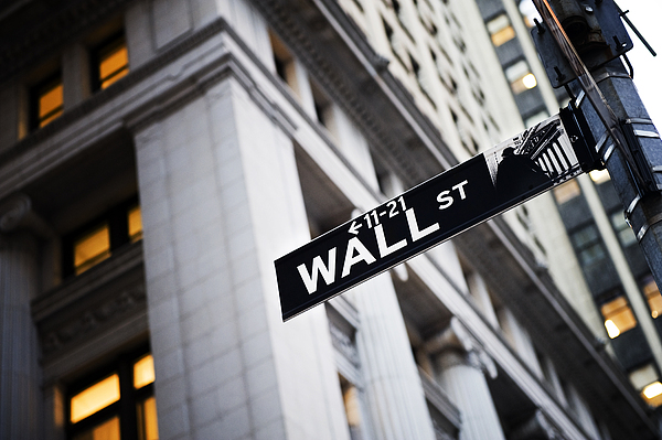 Outdoors Photograph - The Wall Street Street Sign by Justin Guariglia