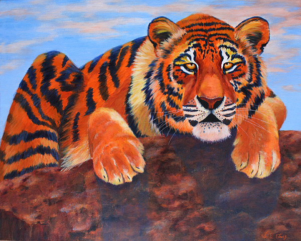 Tiger Painting - The Watch by Wendi Curtis