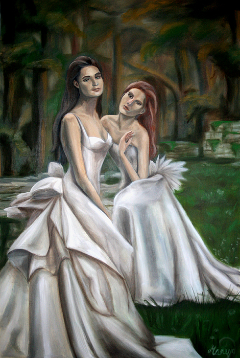 Women Painting - The Watchers by Maryn Crawford