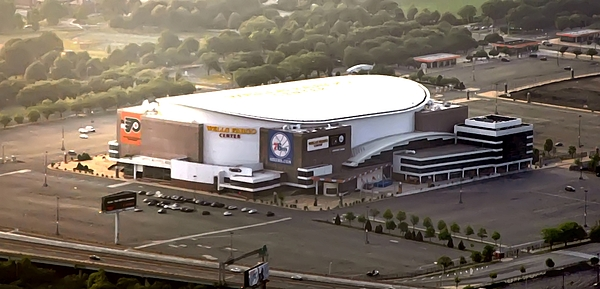 Sports Photograph - The Wells Fargo Center by Bill Cannon