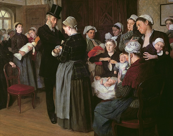 The Painting - The Wetnurse Agency by Jose Frappa