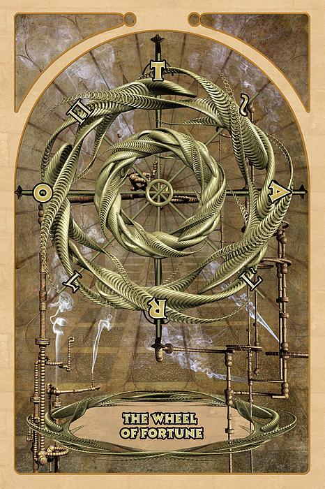Magic Digital Art - The Wheel Of Fortune by John Edwards