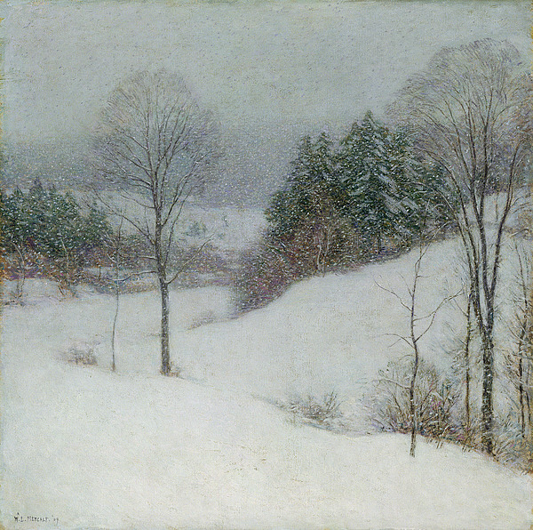 Dtr114601 Photograph - The White Veil by Willard Leroy Metcalf