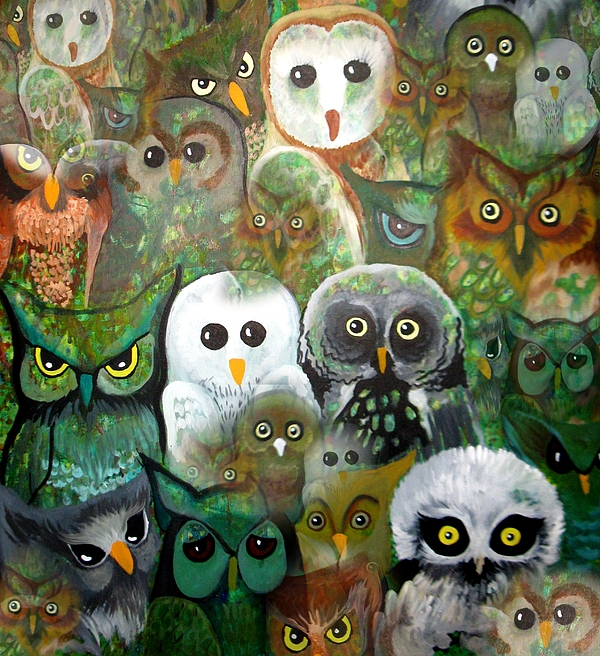 Owls Painting - The Who by Amy Sorrell