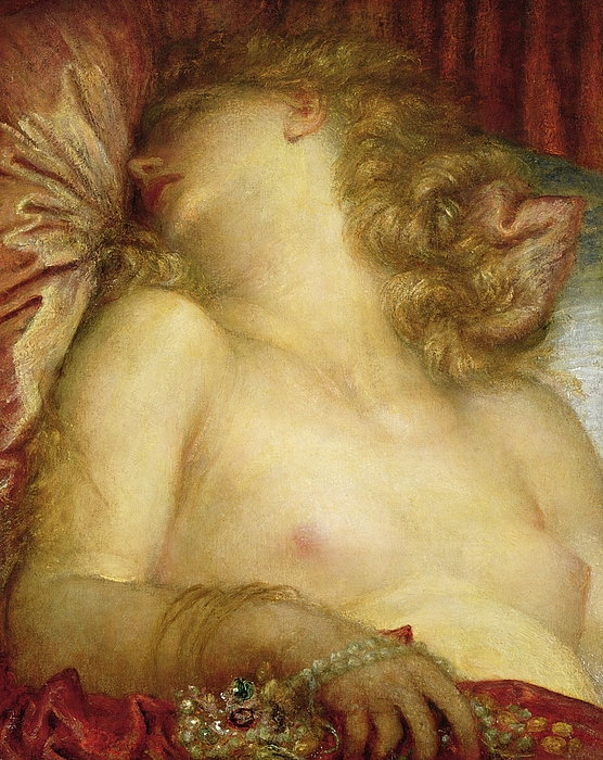 Nude Painting - The Wife Of Plutus by George Frederic Watts