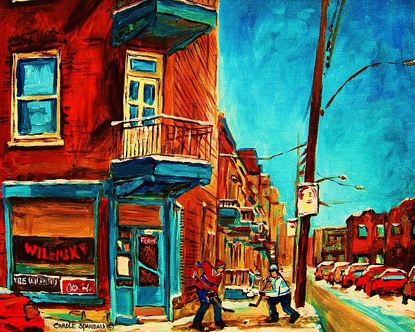 Cityscape Painting - The Wilensky Doorway by Carole Spandau