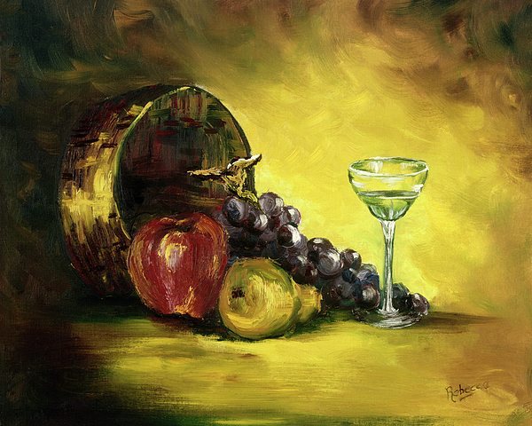 Still Life Painting - The Wine Glass by Cathy Robertson