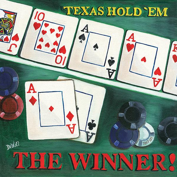 Cards Painting - The Winner by Debbie DeWitt