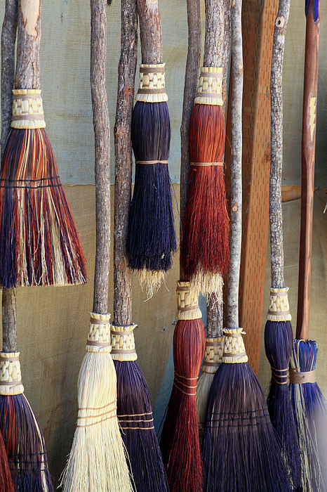 Brooms Photograph - The Witches Brooms by Enzie Shahmiri