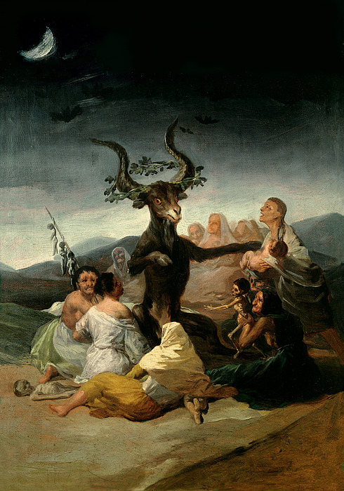 The Painting - The Witches Sabbath by Goya