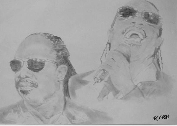 Stevie Wonder Drawing - The Wonder Of Stevie by B Jaxon