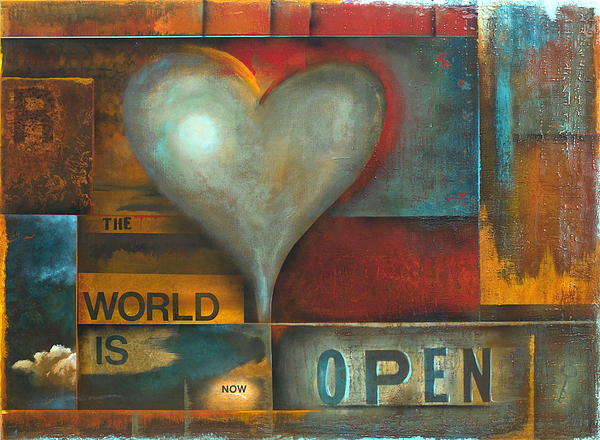 The World Is Now Open Painting by Stephen Schubert