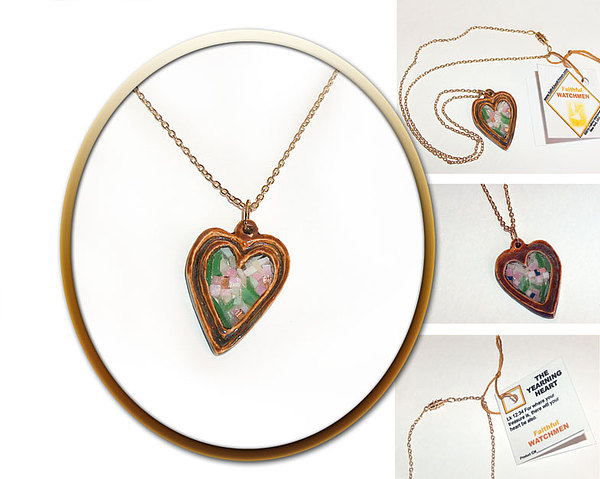 Porcelain Mixed Media - The Yearning Heart by Wendy Nelson