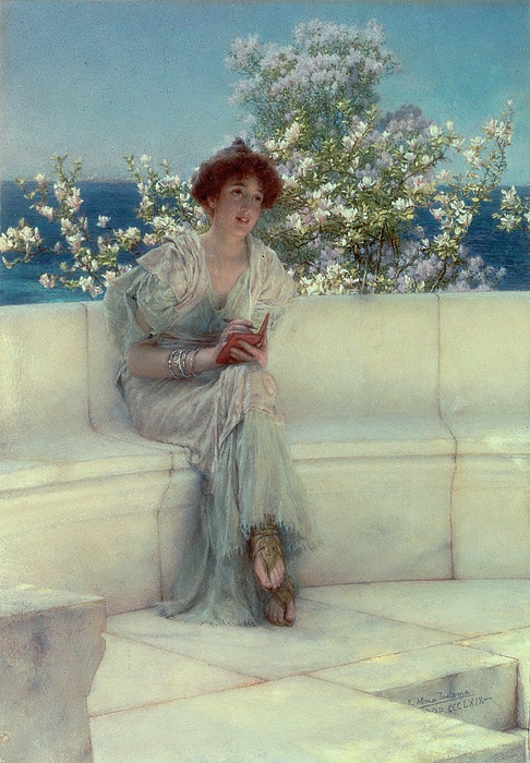 The Painting - The Years At The Spring -  Alls Right With The World by Sir Lawrence Alma-Tadema