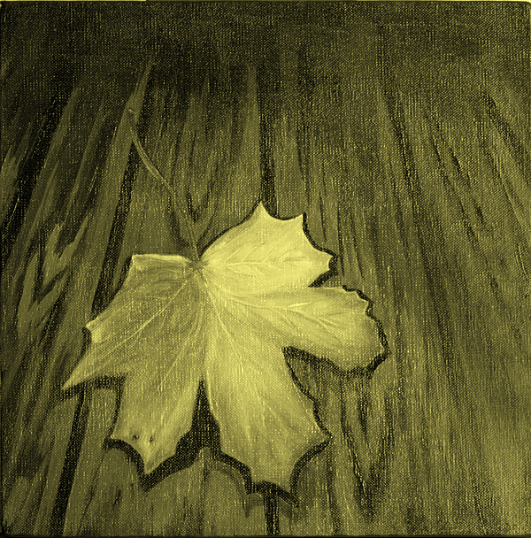 Yellow Painting - The Yellow Leaf by Ninna