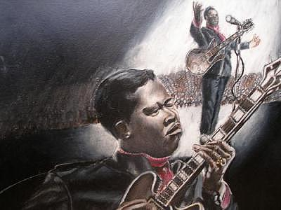 The Young B.b. King Drawing by Portland Art Creations