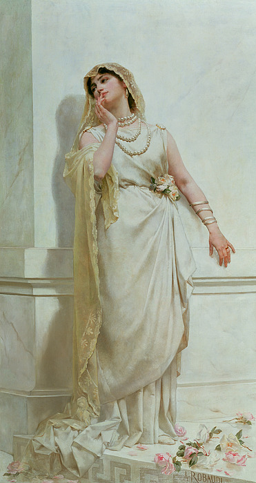 The Painting - The Young Bride by Alcide Theophile Robaudi
