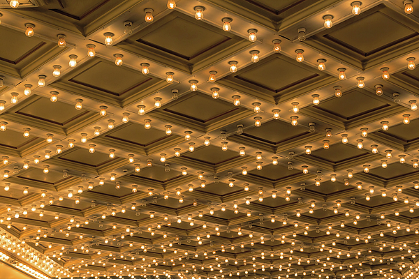 Lights Photograph - Theater Ceiling Marquee Lights by David Gn