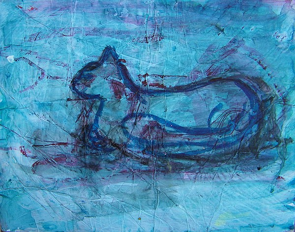 Abstract Painting - Theodore by Judith Redman
