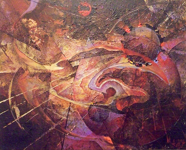 Abstract Painting - Theorem by Fred Wellner