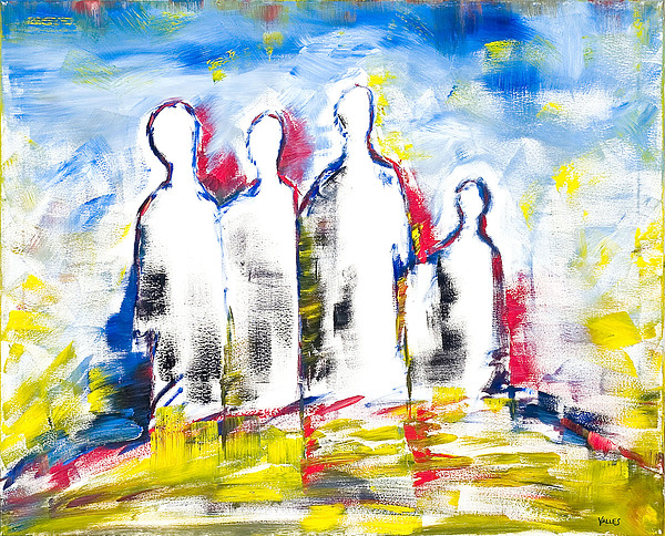 Abstract Painting - There Is Hope Still by Fermin Valles